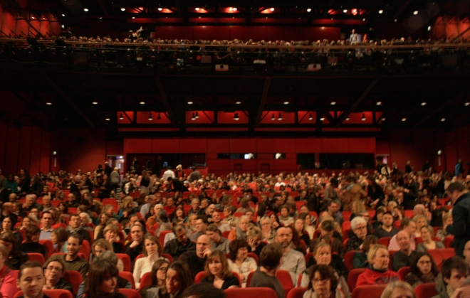 Berlinale Palast: 1600 people, 6 floors, 1 screen. Gloria!